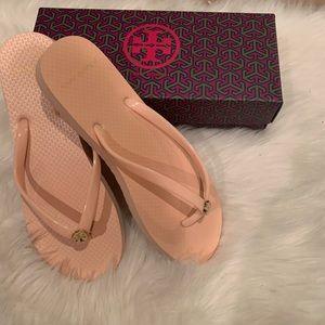 Tory Burch Blush Flipflop Sandals